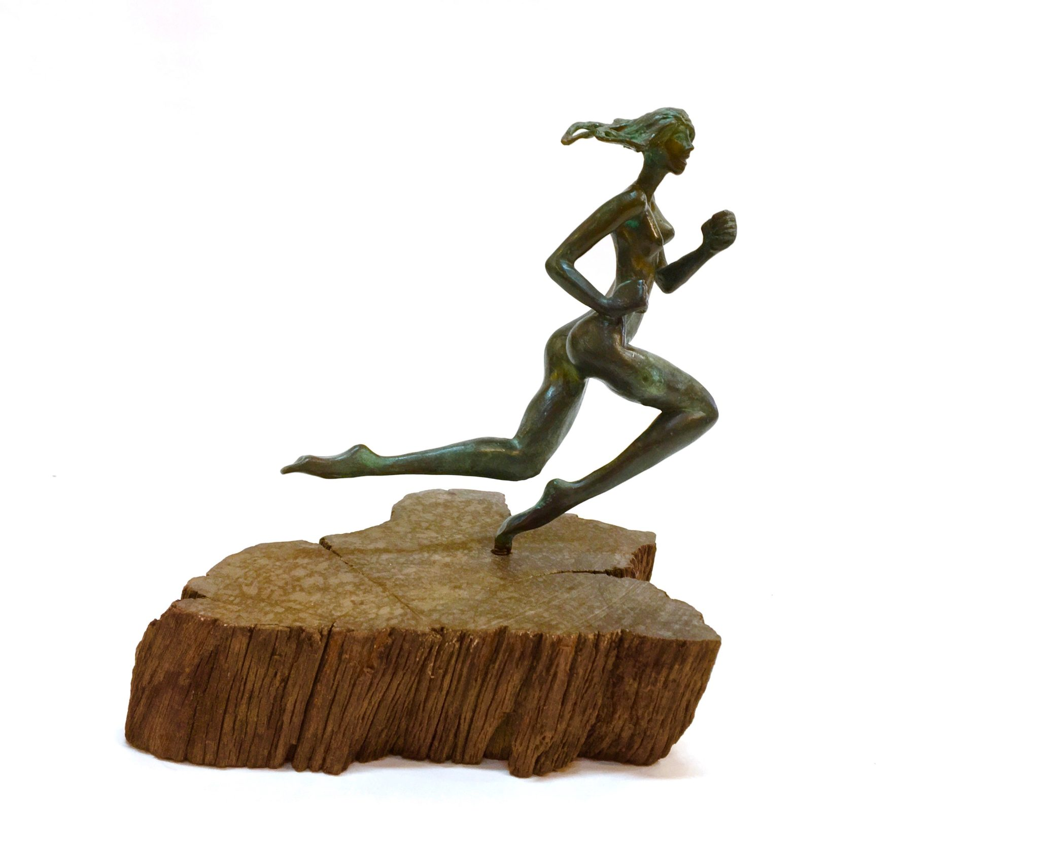 running-woman-bronze